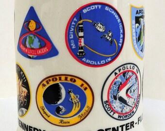 Vintage Stein, Kennedy Space Center - Florida, Collectible Stein,Ceramic Stein,NASA Missions,Beer Stein,Keepsake