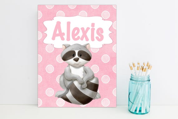 Raccoon Personalized Folder