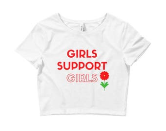 Girls Support Girls Crop Top