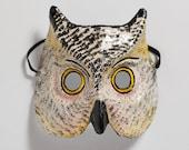 Christmas masquerade owl paper mask