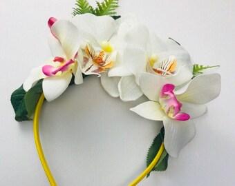 Tropical Rainforest Flower Crown Headband
