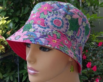 Chemo Hat Bucket Hat Cancer Hat Alopecia Hat Made in the USA. MEDIUM-LARGE