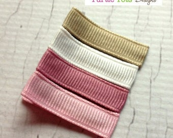 ON SALE Baby Hair Clips - Sugar Berry -  Pink, White, Oatmeal - Simple Alligator Hair Clip - No Slip Grip - Baby, Girl, Toddler, Children