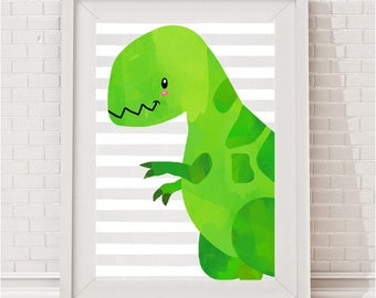 Blue/Green Dinosaur Print