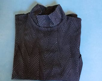 WOLFORD - Vintage turtleneck pullover - Blue and black - OPTICAL - Size S