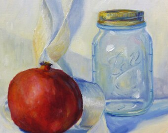 Still Life Small Oil Painting on Canvas
