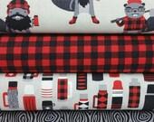 BUNDLE SALE Red Burly Beaver Bundle from Robert Kaufman by Andie Hanna - 4 Fabrics