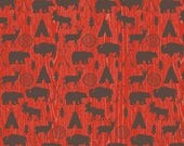"SUMMER SALE END Of Bolt - 31"" X 44""  - Adventure Main on Red from Riley Blake's High Adventure Collection"