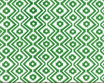 Green Little Eduardo Stripes from Michael Miller Fabric's Llama Navidad Collection