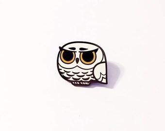 Grumpy Owl Enamel Pin