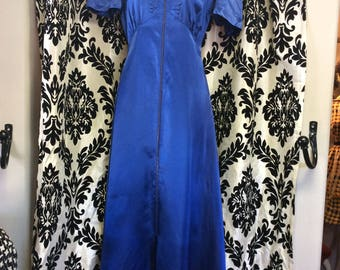 Royal Blue 30's Dressing Gown