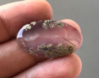 Beautiful Moss Agate Stone 28 x 16 mm
