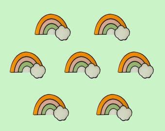 Rainbow Cloud Handmade Plastic Pin Lapel Pin