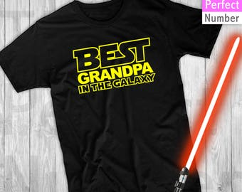 Disney Star Wars Inspired Themed  Best Grandpa in the Galaxy T-shirts , Magic Kingdom, Epcot, Hollywood Studios