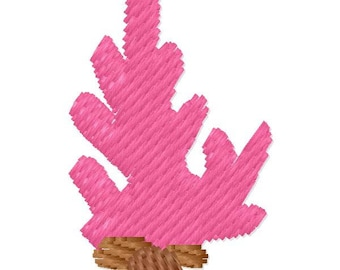 Small Coral Machine Embroidery Design - Instant Download