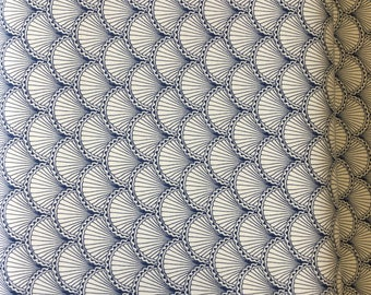 Riley Blake Scallops CX7402 in Navy by the Half metre