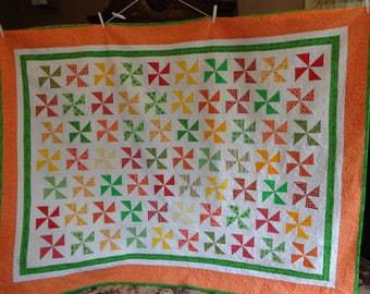 Reserved for Roberta-- Twin Pinwheels Quilt 0626-02