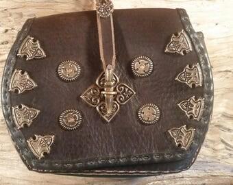 Large Birka style Belt pouch- viking era.