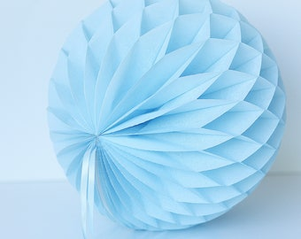 Powder Blue paper honeycomb ball - various sizes  -  wedding party decorations - baby shower-baby bridal shower