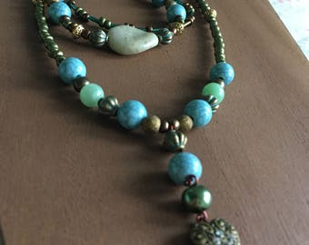 Green, Teal & Bronze set