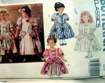 VINTAGE Butterick 5821 - Marie Antoinette Dress pattern Size 5-6-6X
