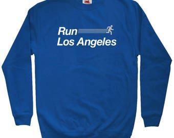 Run Los Angeles V2 Sweatshirt - Men S M L XL 2x 3x - Crewneck, Los Angeles Running Sweatshirt, Los Angeles Jogging Sweatshirt, LA Running