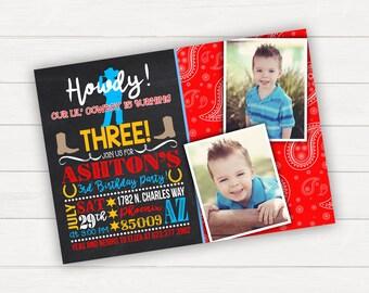 Cowboy Birthday Invitation Western Birthday Invitations Cowboy Invitation Boy Birthday Invitation Cowboy Party Invitation Birthday Invites