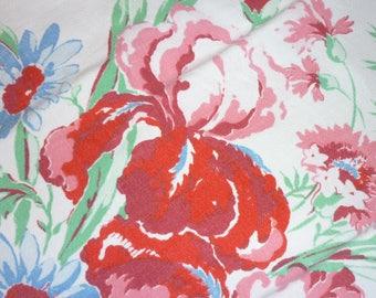 "Vintage WILENDUR ERA Tablecloth...Colorfull Flowers...53"" by 66"" ...St. Regis"