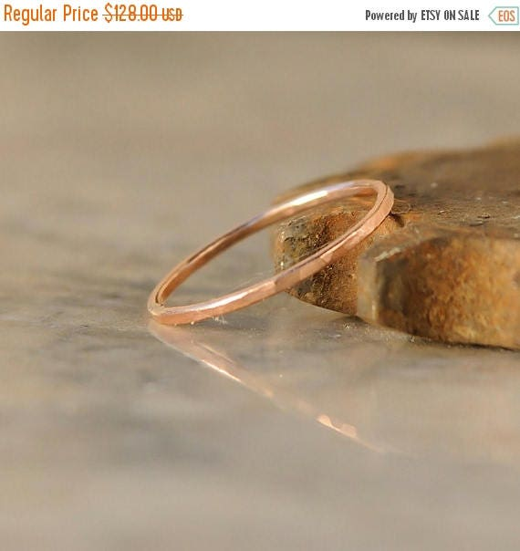 ON SALE Thin Stacking Ring - Stack Ring - Rose Gold Stacking Ring - Thin Stackable Ring