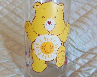 1983 Care Bears, Funshine Bear, Pizza Hut Glass