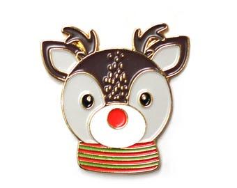 Ray Reindeer - Enamel Pin, lapel pin, rudolph, reindeer, christmas