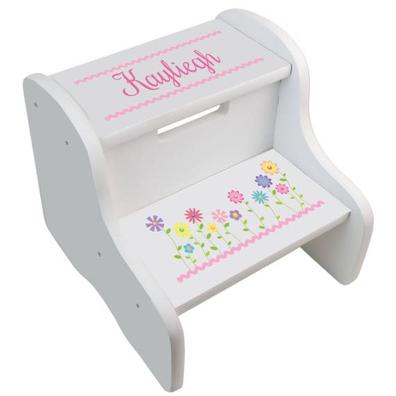 Personalized STEP Stool for Girl\'s Custom Stepping Stools