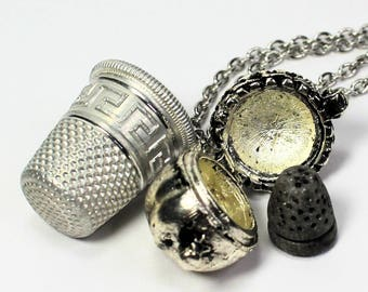 Acorn Thimble Couples Stainless Steel Necklaces Peter Pan  Wendy Hidden Kisses for  Men, Women, Sweetheart, Lover, Sister, Best Friend
