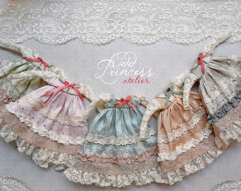 PASTEL DREAMS Collection, Silk Blythe/Pullip Dress By Odd Princess, Vintage Collection, Pre-ORDER