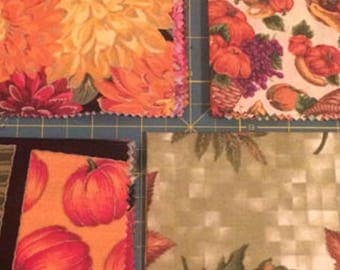 Autumn Fall Colours Cotton Fabric x 4 pieces