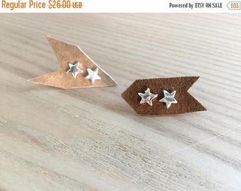 75% off Sale tiny STAR earrings, cartilage second hole, Cosmic lunar gift, star jewelry, Humane Society donation