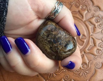 Four Pieces of Tumbled Bronzite