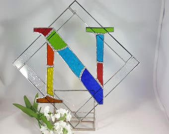 Stained Glass Initial N