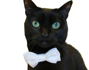 Custom Satin Bow Tie Cat Collar-Custom Bow Tie Cat Collar-Bow Tie Collar-Custom Cat Collar-Wedding Cat Bow Tie Collar-Cat Tuxedo-Cat Tux