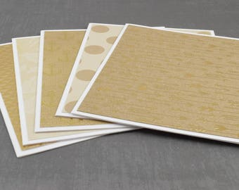 Kraft Paper Cards. Gold Foil Cards, Pack of Greeting Cards, Assorted Cards, Set of Cards, Blank Greeting Cards, Stationery Cards, Blank Card
