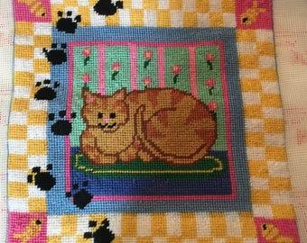 Meeow~Kitty Kat Needlepoint