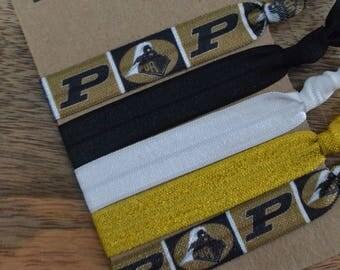 Set of Five Purdue University FOE Hair Ties Boilermakers