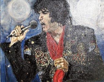 Elvis Presley in Concert phycodelic painting