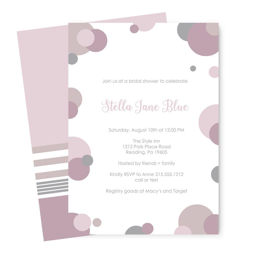 Dusky mauve bridal shower invitations simple wedding ceremony dusky mauve bridal shower invitations simple wedding ceremony guest announcement abstract party ideas filmwisefo