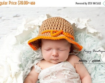SUMMER SALE Baby Gone Fishing Hat - Newborn Beanie Halloween Costume Outfit Summer Spring Winter