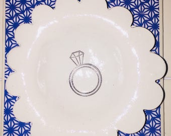 Polymer clay ring dish
