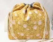 Medium Super Draw Project Bag - Blume in Straw