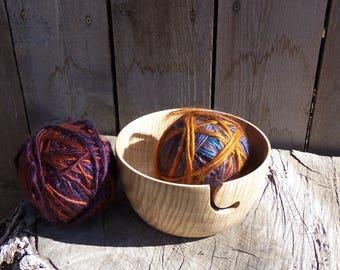 Yarn Bowl, Curly Maple Yarn Holder