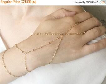 VACATION SALE gold slave bracelet, gold hand chain, gold ring bracelet, gold slave bracelet, ring bracelet, slave ring, gold hand piece