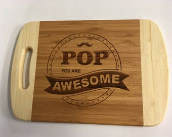 BBQ board, Cheese board, Bar board, Father's Day gift, for your Pop.